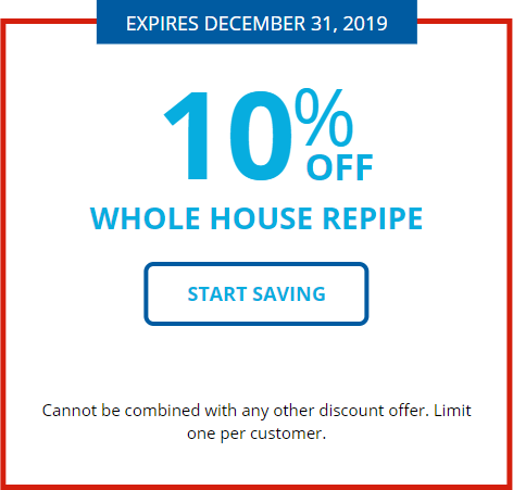 Whole House Repipe Coupon